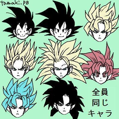 《龙珠》的角色规律 同脸不同人