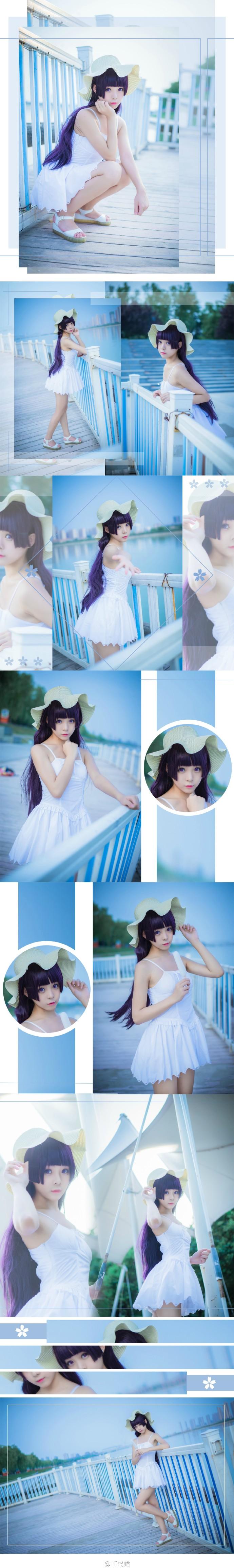 【cos】我的妹妹哪有这么可爱 五更琉璃白裙