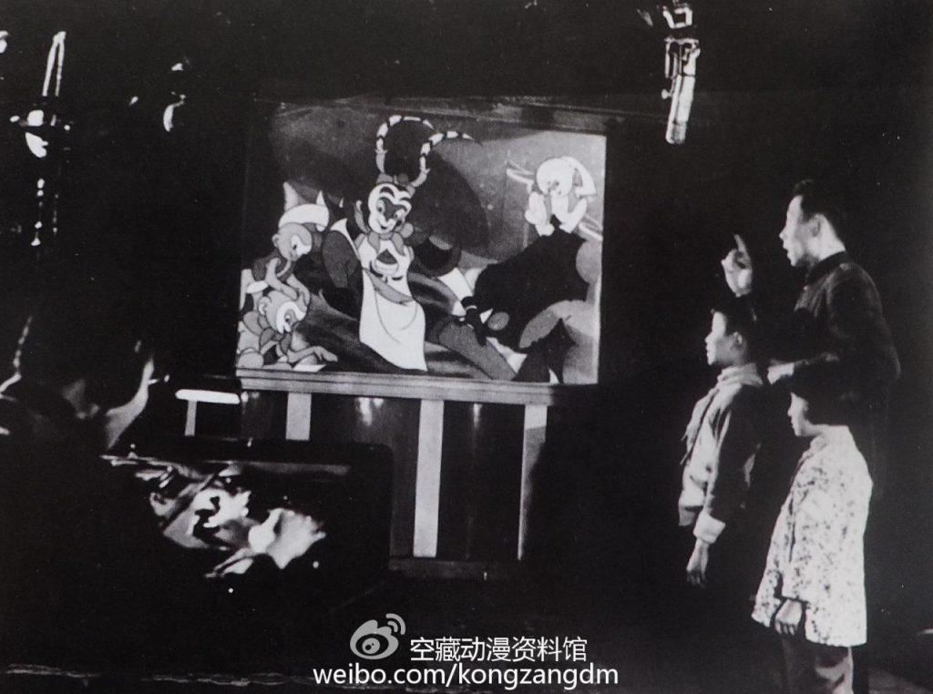 """""""孩儿们,操练起来!""""——动画片《大闹天宫(上集)》配音工作照(1961年)"""