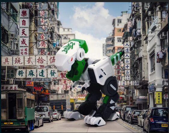 52TOYS新年首推中国风神物,麻将小恐龙开启全网预售 业界信息 第4张